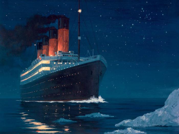 Затонувший корабль Титаник