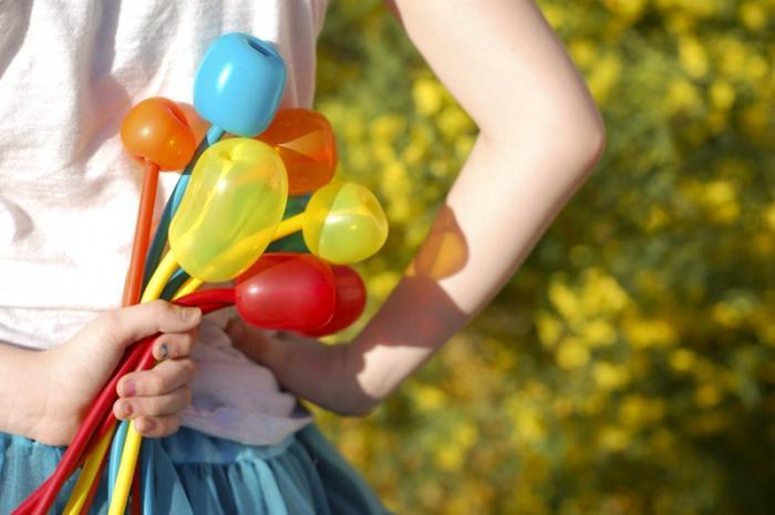 цветы из шаров своими руками