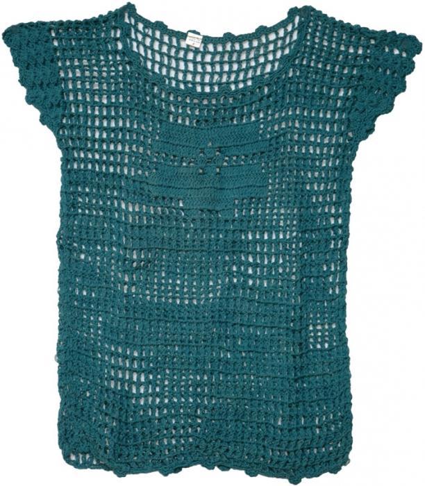 вязание крючком кофта сетка