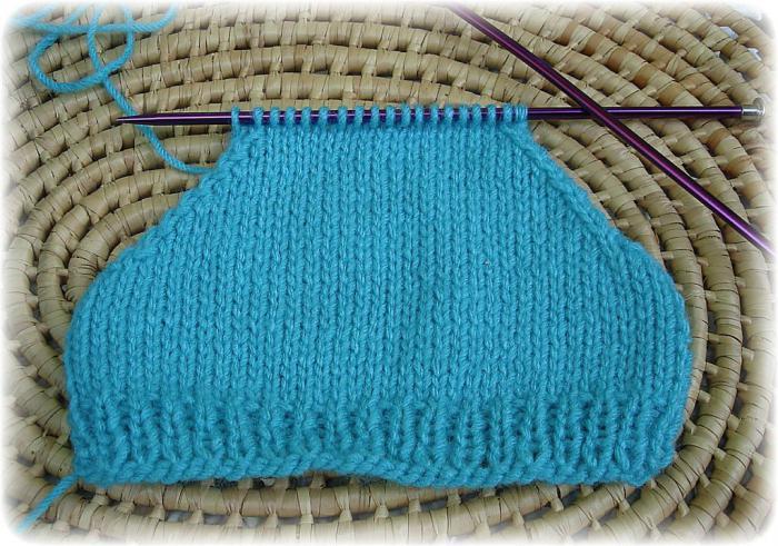 вязание свитера рукава