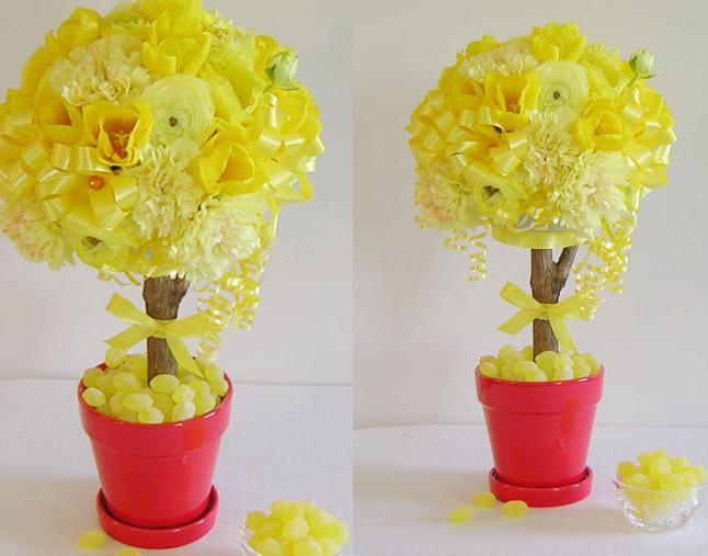 Цветочные деревья своими руками из салфеток