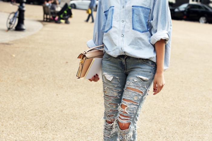 деним стиль в одежде