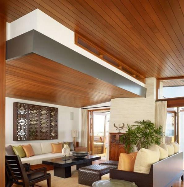 Дизайн потолков: способ преображения гостиной