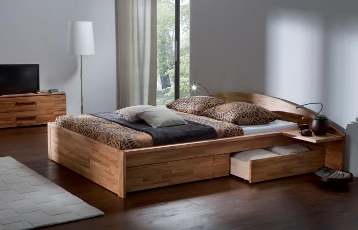 кровать с боковыми ящиками