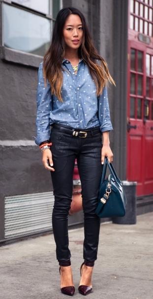 Штаны кожаные — элегантность с перчинкой