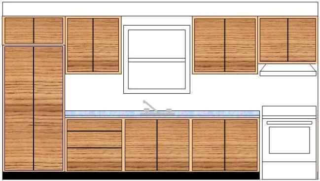 кухонный гарнитур размеры шкафов