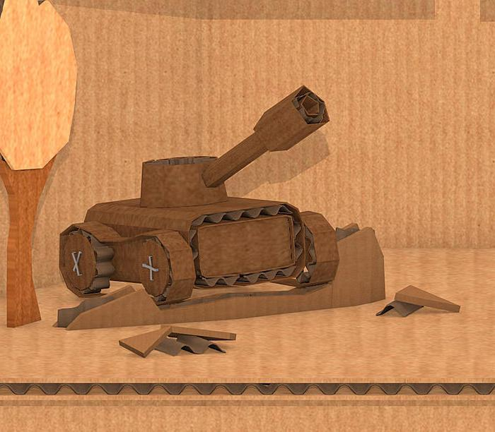 танк из картона своими руками
