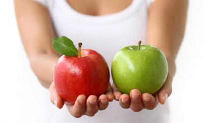 В яблоках много железа