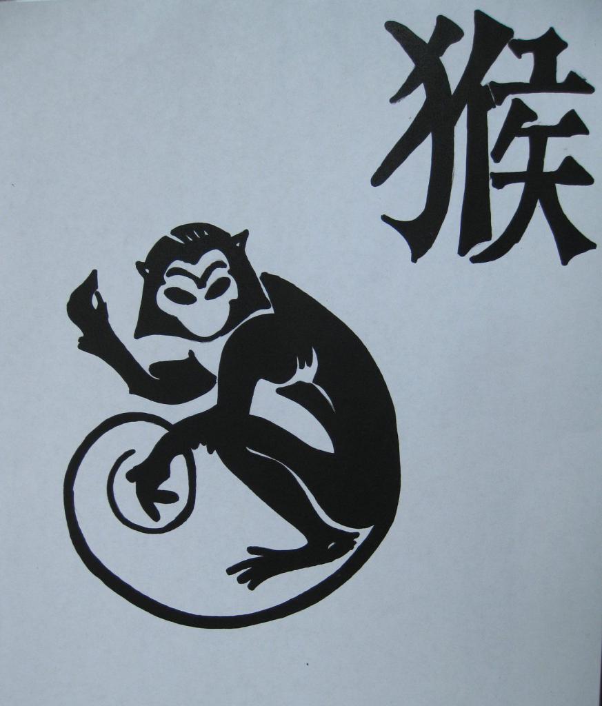 male monkey scales female bull scales
