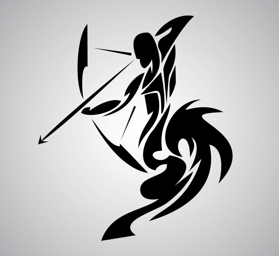 картинка стрелец знак зодиака мужчина для тату всей