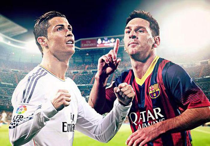 футбол месси против роналдо