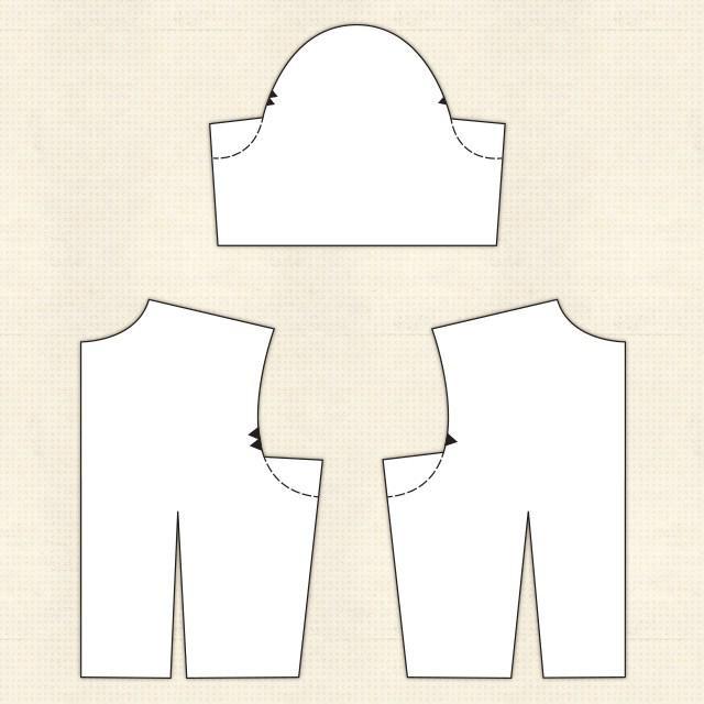 выкройка пиджака женского без воротника