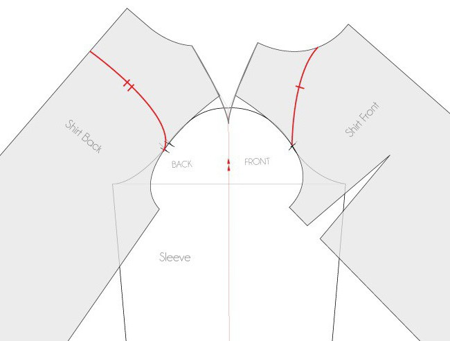 выкройка рукава пиджака женского