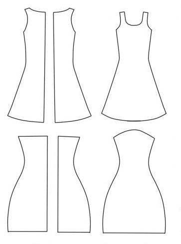 Выкройки платье для куклы своими руками