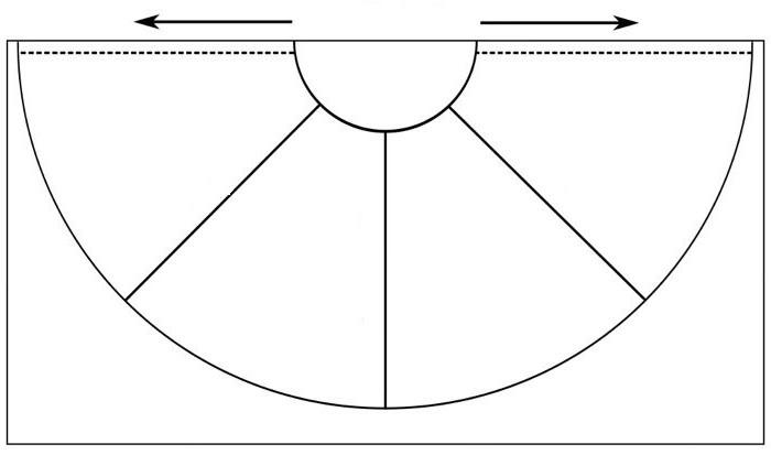 выкройка юбки для девочек