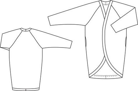 пальто с цельнокроеным рукавом выкройка