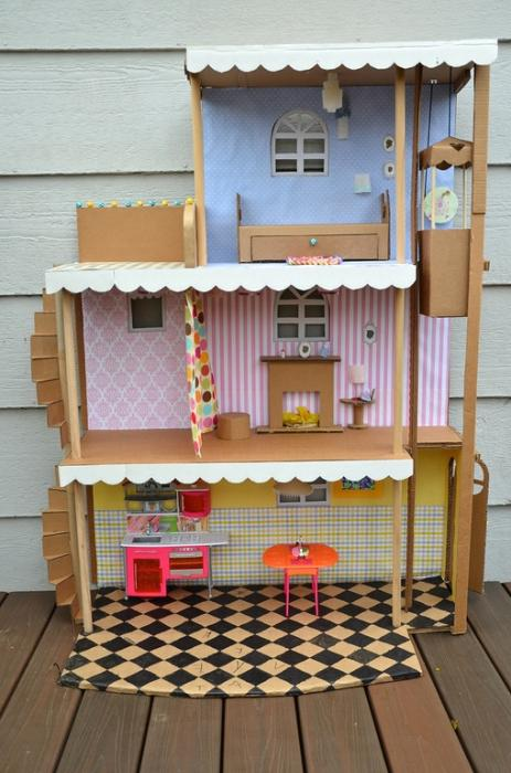 как построить дом для барби