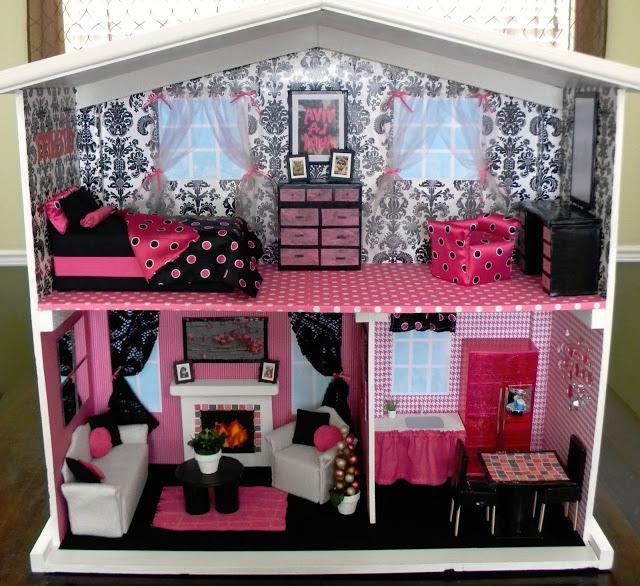 Кукольный домик барби своими руками