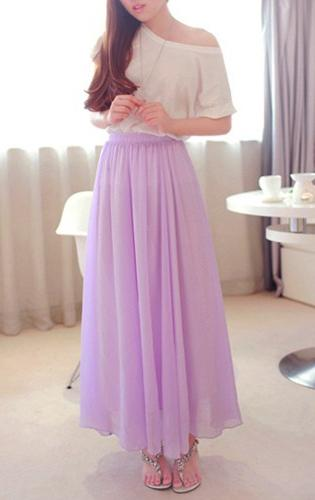 Длинная юбка в пол своими руками на резинке