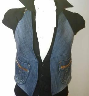 джинсовая жилетка из старых джинс