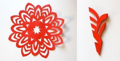 Круглые снежинки из бумаги своими руками 5