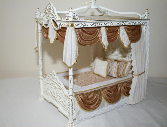 Кровать из дерева для кукол своими руками