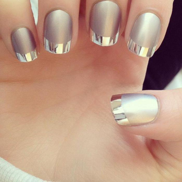 как красиво сделать зеркальные ногти дома