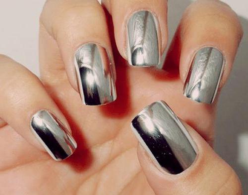 как красиво сделать зеркальные ногти в домашних условиях