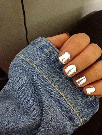 как сделать зеркальные ногти в домашних