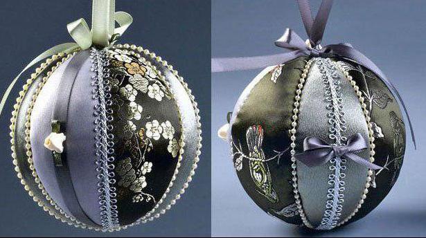 новогодний шарик из ткани своими руками