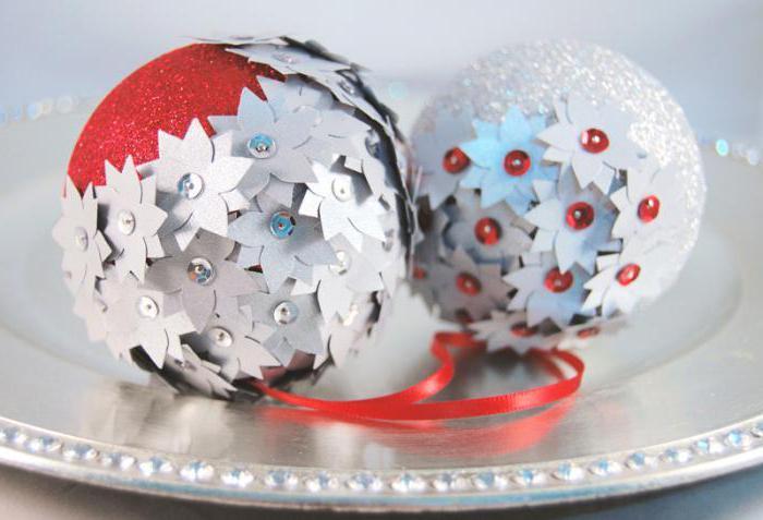 елочные шары из пенопласта своими руками