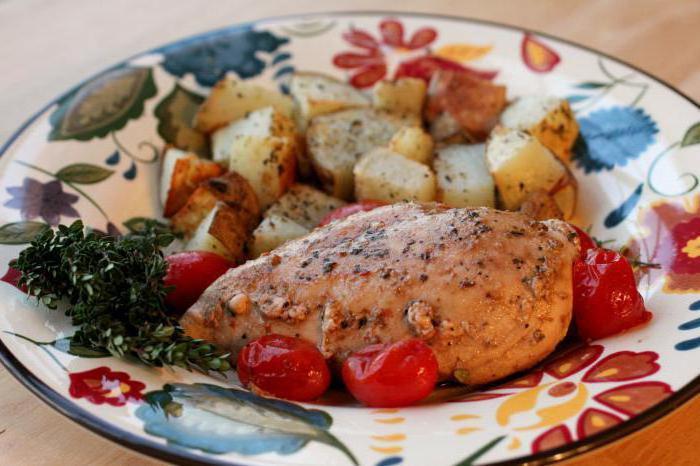 Картошка с куриным филе и помидорами в духовке рецепт с фото пошагово