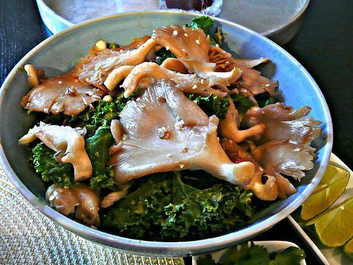 горячие салаты с грибами
