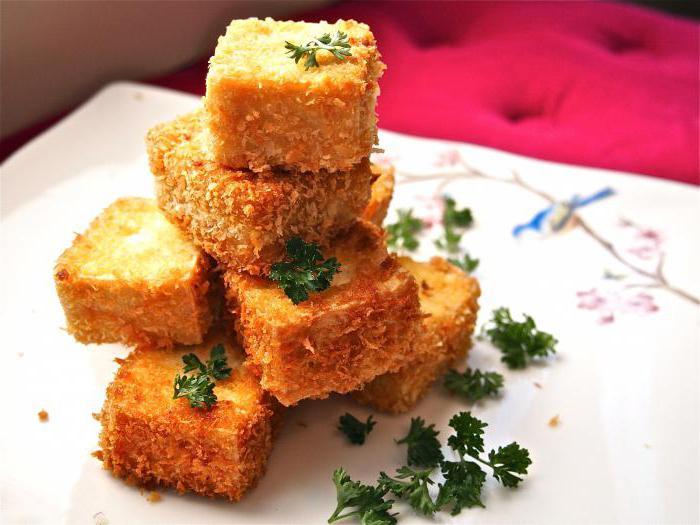 рецепты сыр тофу жареный