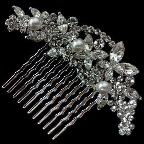 гребень для волос свадебный с жемчугом