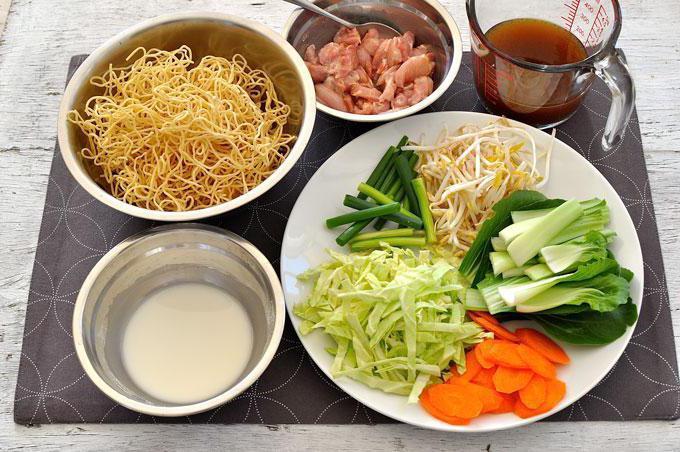 вок лапша рецепты с курицей и овощами в домашних условиях