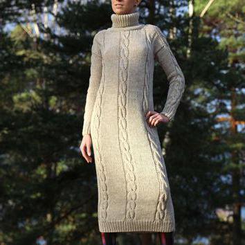 Длинное вязаное платье: с чем носить? Интересные идеи и рекомендации