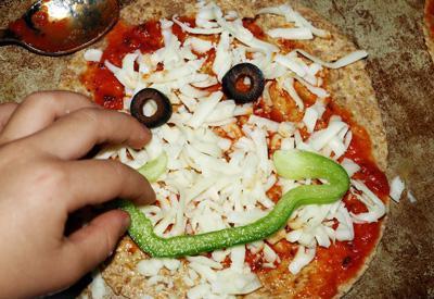 приготовление пиццы для детей