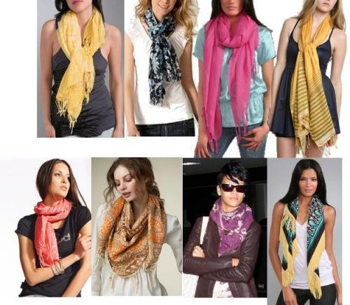 Как завязать шарф на шее,