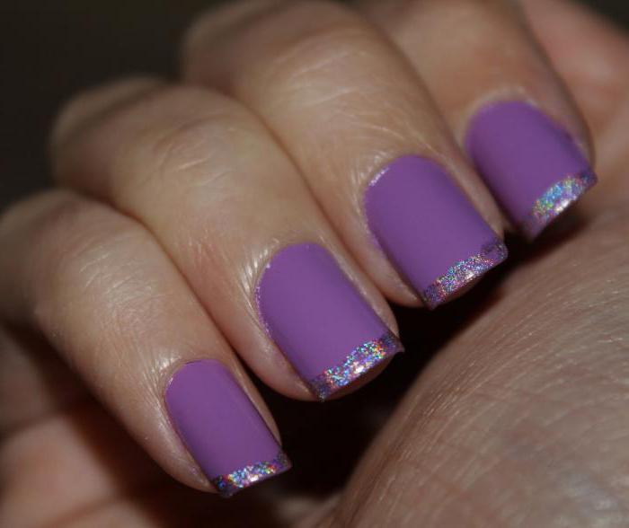 дизайн ногтей сиреневый френч