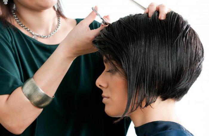 окантовка коротких волос