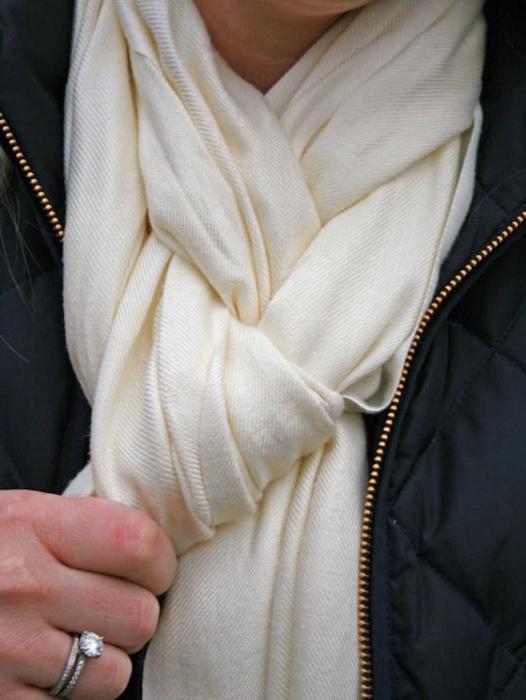как красиво завязывать большие шарфы