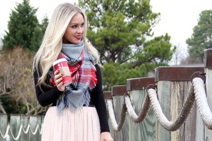 как завязывать большой шарф на шею