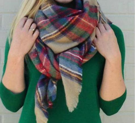 как завязывать большой шарф на пальто