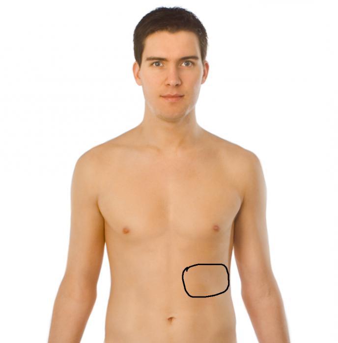 Опоясывает боль в спину правый бок