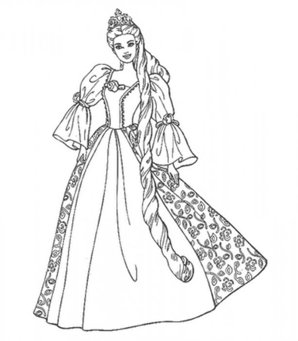 как нарисовать барби принцессу