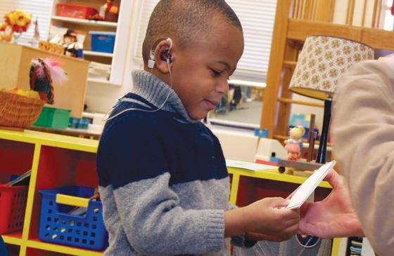 speech of hearing impaired children