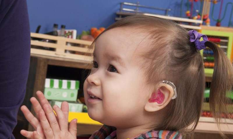 what is the speech of hearing impaired children