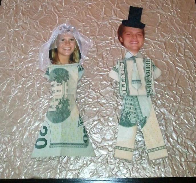 оформление подарка на свадьбу сестры из денег