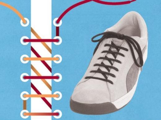 Советов как красиво шнуровать обувь